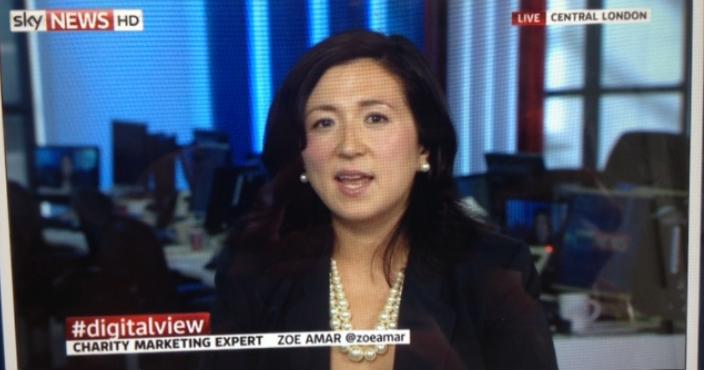 Zoe Amar appearing on Sky News