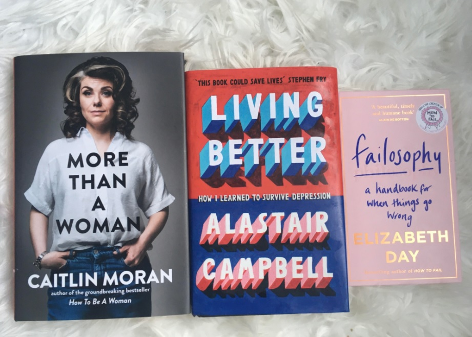 Picture of the books featured in this blog on a white rug